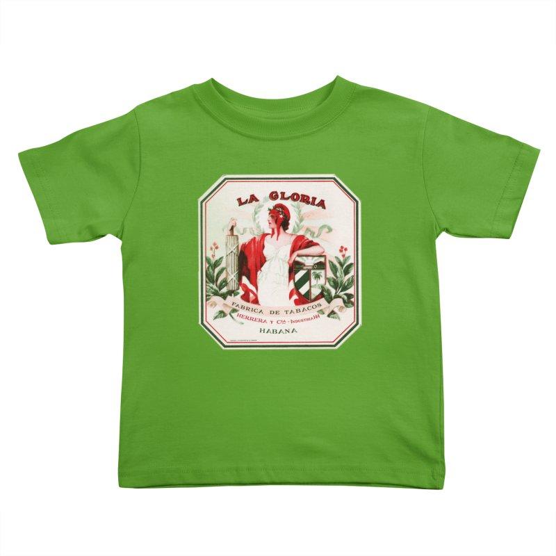 Cuba La Gloria Vintage Cigar Label 1930s Kids Toddler T-Shirt by The Cuba Travel Store Artist Shop