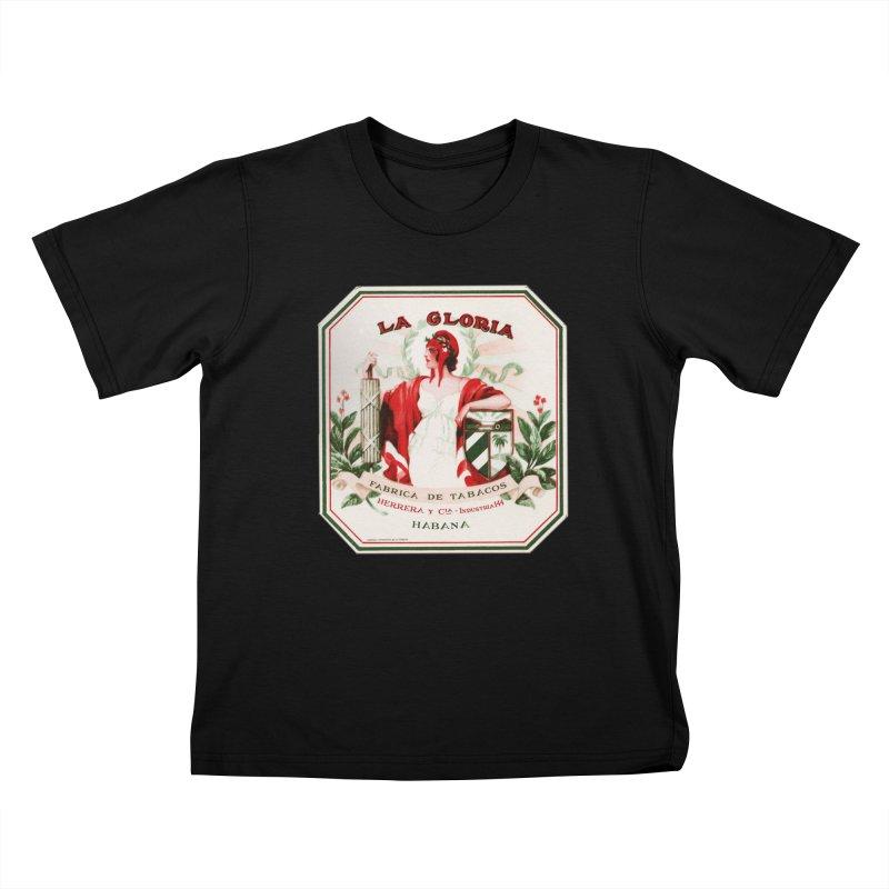 Cuba La Gloria Vintage Cigar Label 1930s Kids T-Shirt by The Cuba Travel Store Artist Shop
