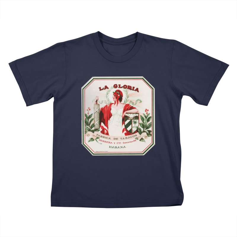 Cuba La Gloria Vintage Cigar Label 1930s Kids T-Shirt by The Cuba Travel Store Artist Shop