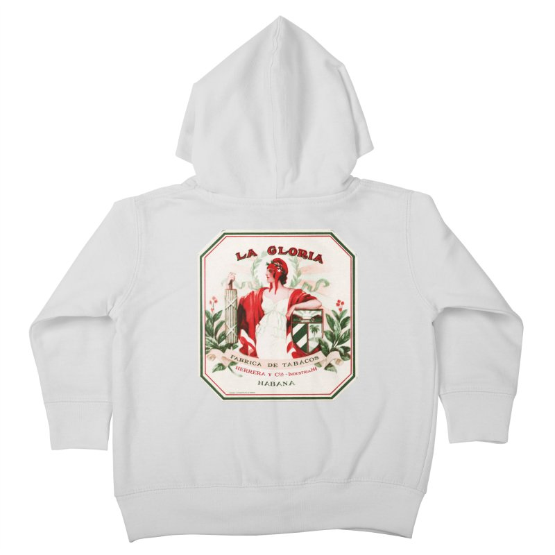 Cuba La Gloria Vintage Cigar Label 1930s Kids Toddler Zip-Up Hoody by The Cuba Travel Store Artist Shop
