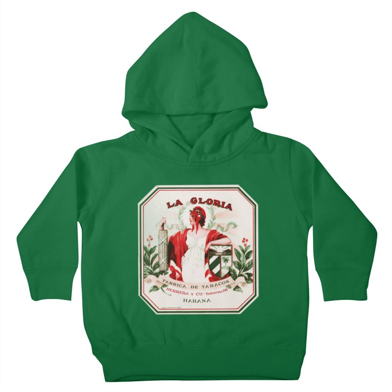Cuba La Gloria Vintage Cigar Label 1930s Kids Toddler Pullover Hoody by The Cuba Travel Store Artist Shop