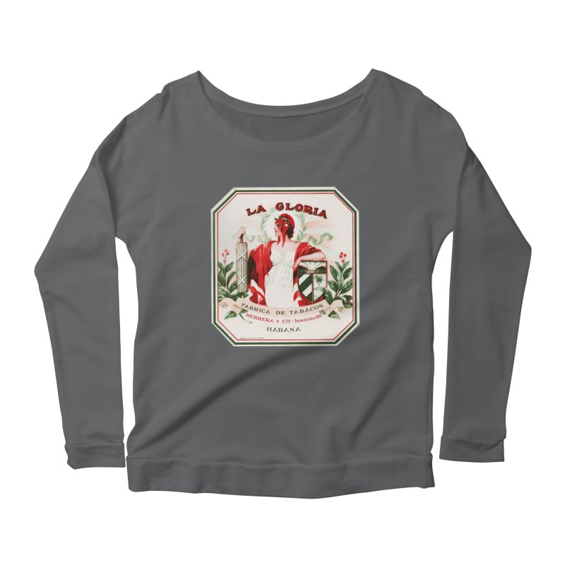 Cuba La Gloria Vintage Cigar Label 1930s Women's Longsleeve T-Shirt by The Cuba Travel Store Artist Shop