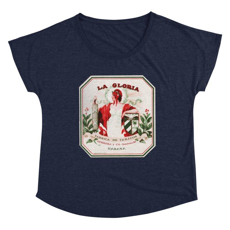 Cuba La Gloria Vintage Cigar Label 1930s Women's Scoop Neck by The Cuba Travel Store Artist Shop