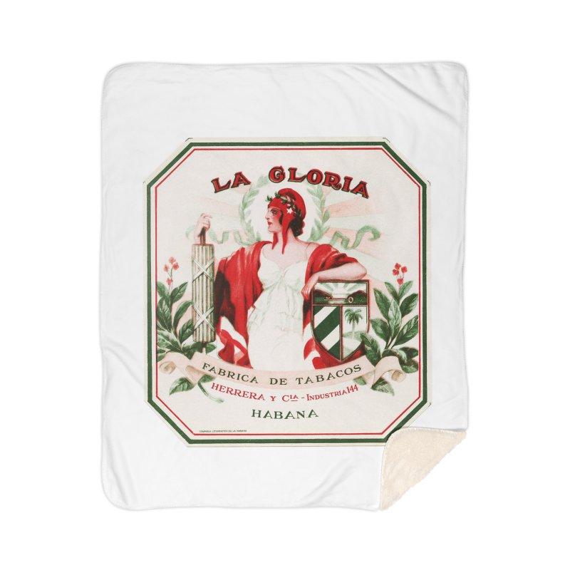 Cuba La Gloria Vintage Cigar Label 1930s Home Blanket by The Cuba Travel Store Artist Shop