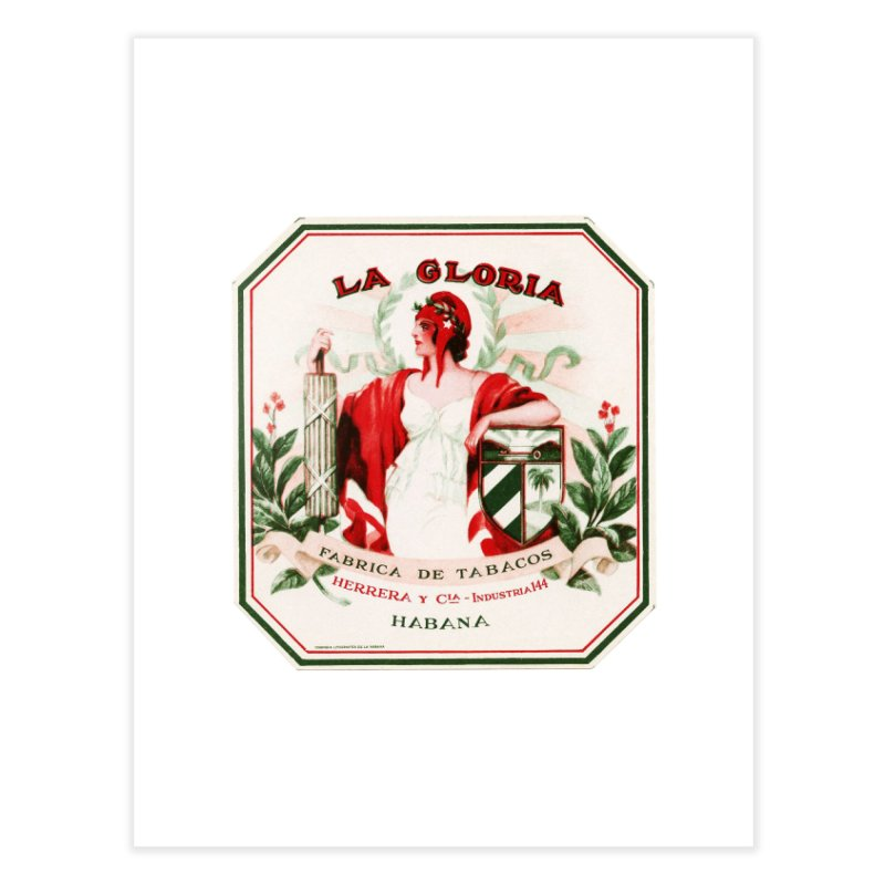 Cuba La Gloria Vintage Cigar Label 1930s Home Fine Art Print by The Cuba Travel Store Artist Shop