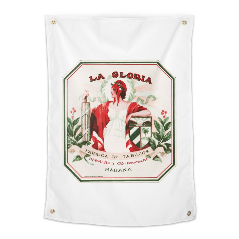 Cuba La Gloria Vintage Cigar Label 1930s Home Tapestry by The Cuba Travel Store Artist Shop