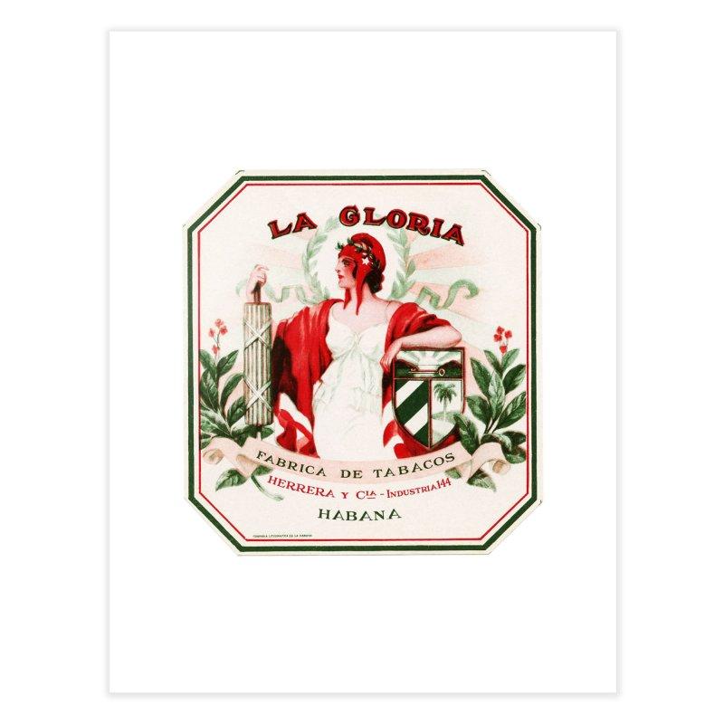 Cuba La Gloria Vintage Cigar Label 1930s Home Fine Art Print by The Cuba Travel Store Artist Shop