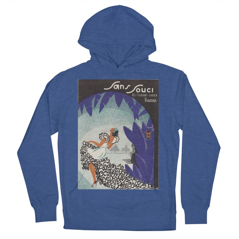 Cuba San Souci Vintage Nightclub Menu Cover 1950s Men's French Terry Pullover Hoody by The Cuba Travel Store Artist Shop