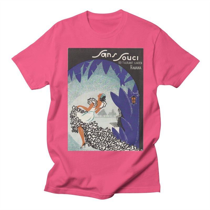 Cuba San Souci Vintage Nightclub Menu Cover 1950s Men's T-Shirt by The Cuba Travel Store Artist Shop