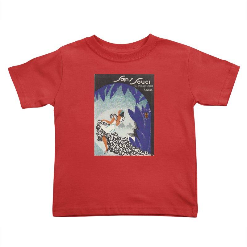 Cuba San Souci Vintage Nightclub Menu Cover 1950s Kids Toddler T-Shirt by The Cuba Travel Store Artist Shop