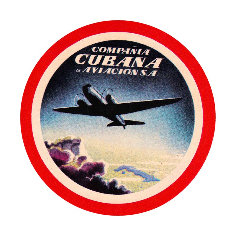 Cubana Airlines Vintage Luggage Tag 1950s Home Duvet by The Cuba Travel Store Artist Shop