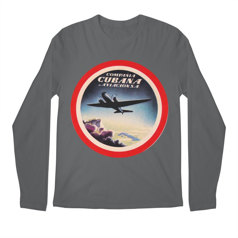 Cubana Airlines Vintage Luggage Tag 1950s Men's Longsleeve T-Shirt by The Cuba Travel Store Artist Shop