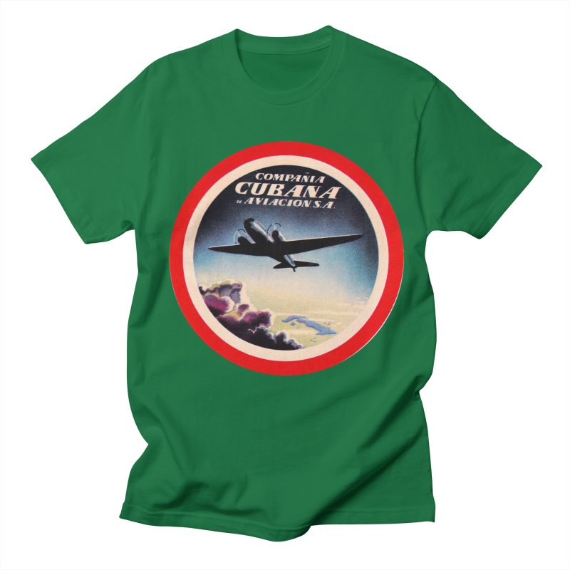 Cubana Airlines Vintage Luggage Tag 1950s Men's T-Shirt by The Cuba Travel Store Artist Shop