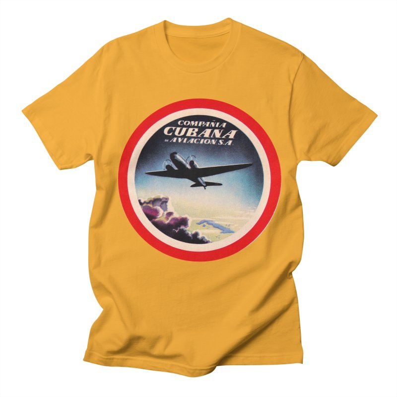 Cubana Airlines Vintage Luggage Tag 1950s Men's Regular T-Shirt by The Cuba Travel Store Artist Shop