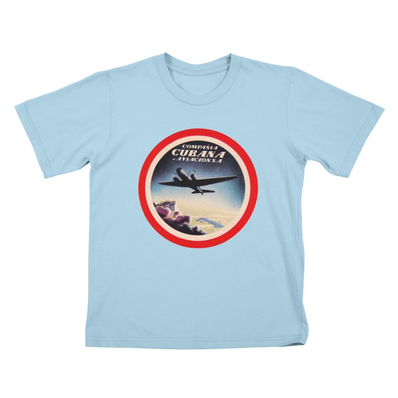 Cubana Airlines Vintage Luggage Tag 1950s Kids T-Shirt by The Cuba Travel Store Artist Shop
