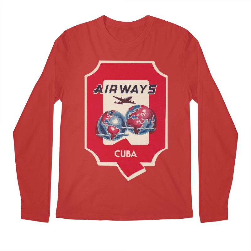 Q Cuban Airways - 1950s Men's Regular Longsleeve T-Shirt by The Cuba Travel Store Artist Shop