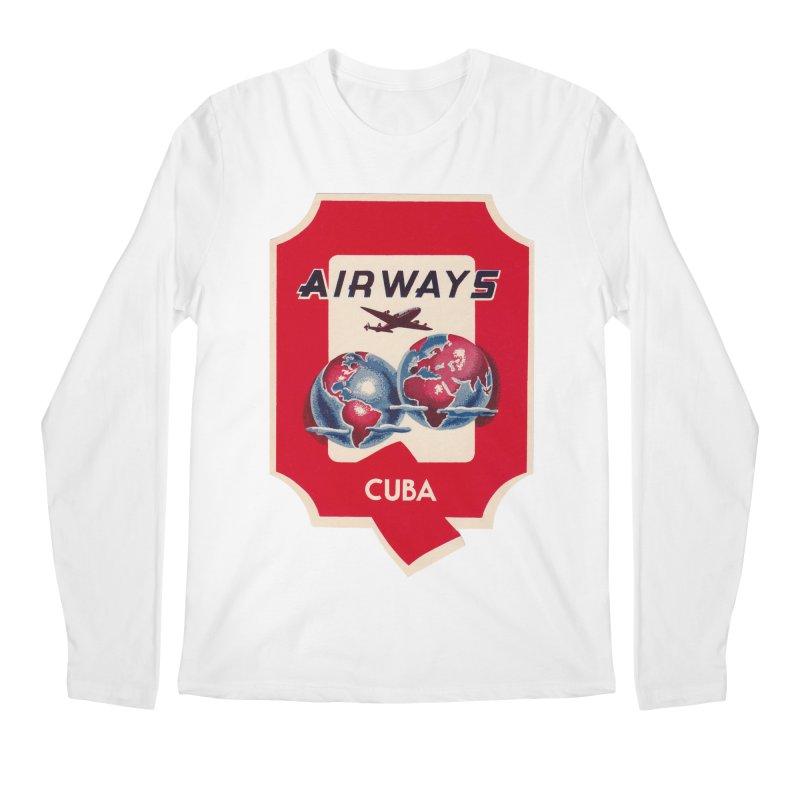 Q Cuban Airways - 1950s Men's Longsleeve T-Shirt by The Cuba Travel Store Artist Shop