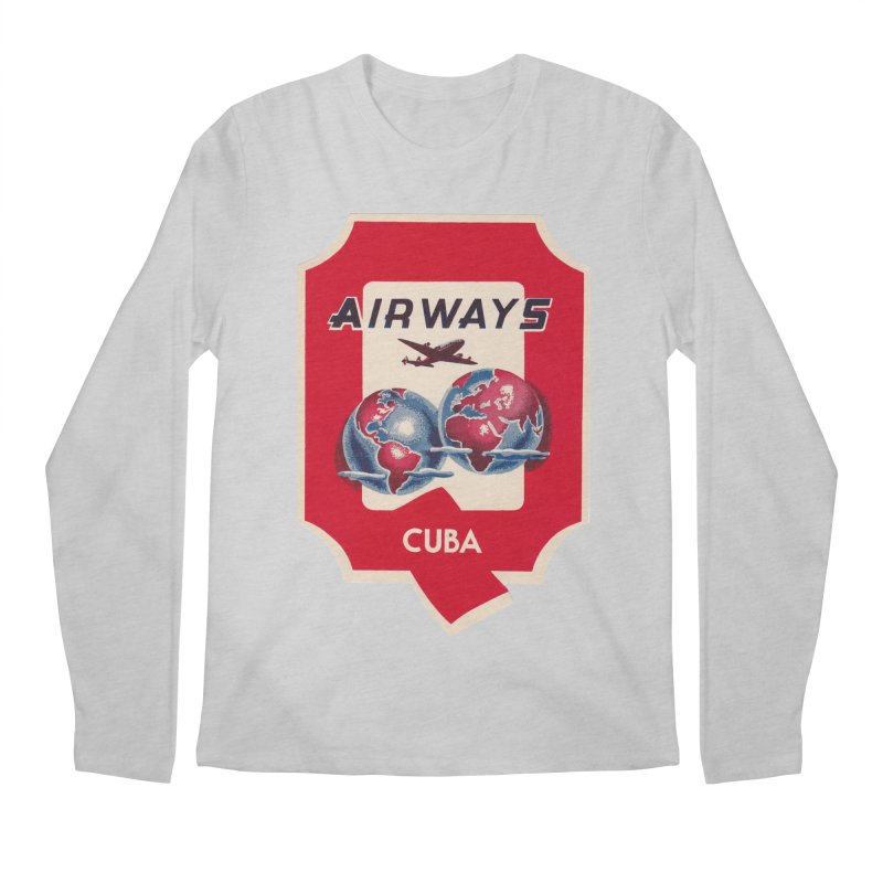 Q Cuban Airways - 1950s Men's Longsleeve T-Shirt by The Cuba Travel Store Artist Shop