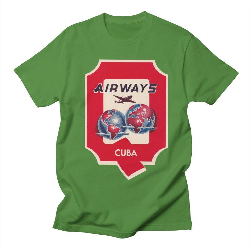 Q Cuban Airways - 1950s Men's T-Shirt by The Cuba Travel Store Artist Shop