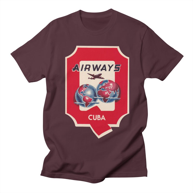 Q Cuban Airways - 1950s Men's T-Shirt by The Cuba Travel Store Artist Shop