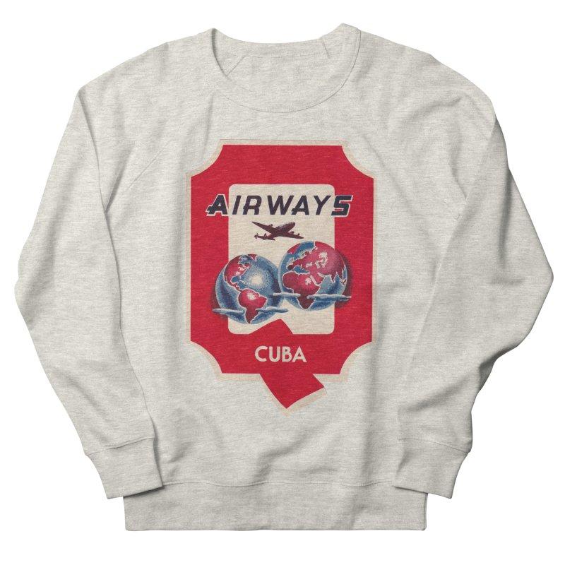 Q Cuban Airways - 1950s Men's French Terry Sweatshirt by The Cuba Travel Store Artist Shop