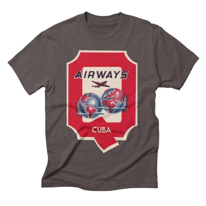 Q Cuban Airways - 1950s Men's Triblend T-Shirt by The Cuba Travel Store Artist Shop