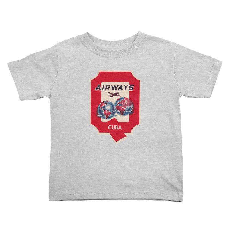 Q Cuban Airways - 1950s Kids Toddler T-Shirt by The Cuba Travel Store Artist Shop