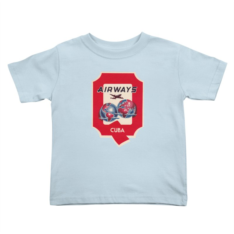 Q Cuban Airways - 1950s Kids Toddler T-Shirt by The Cuba Travel Store Artist Shop