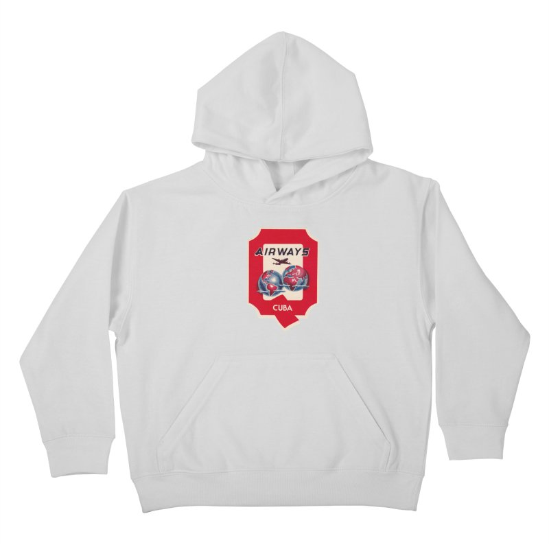 Q Cuban Airways - 1950s Kids Pullover Hoody by The Cuba Travel Store Artist Shop