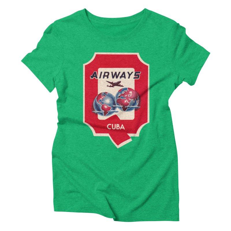 Q Cuban Airways - 1950s Women's Triblend T-Shirt by The Cuba Travel Store Artist Shop