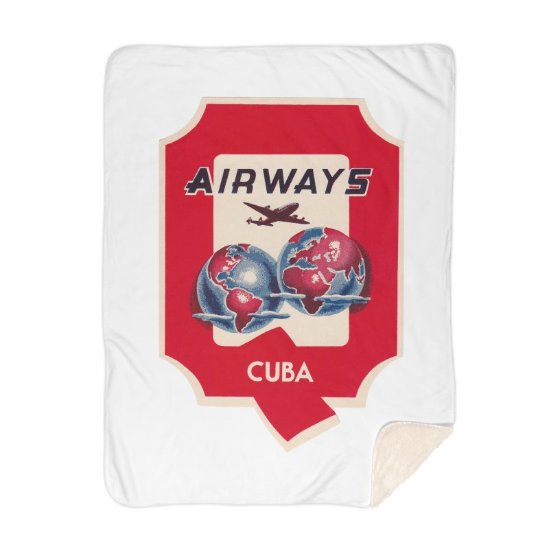 Q Cuban Airways - 1950s Home Blanket by The Cuba Travel Store Artist Shop