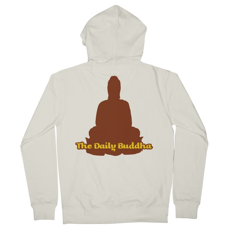 The Daily Buddha Men's French Terry Zip-Up Hoody by The Daily Buddha Artist Shop