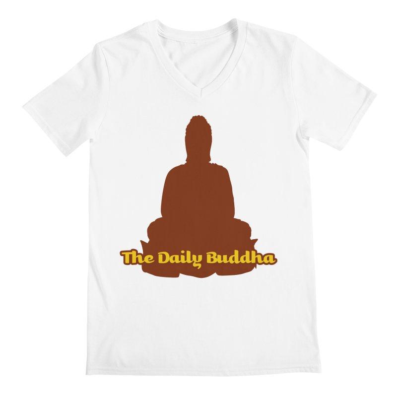 The Daily Buddha Men's Regular V-Neck by The Daily Buddha Artist Shop