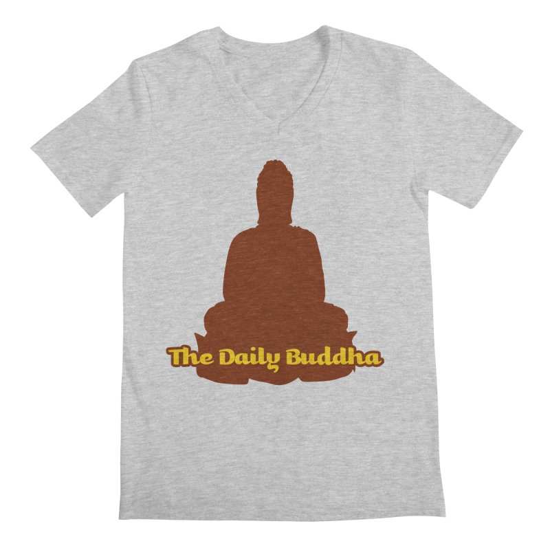 The Daily Buddha Men's Regular V-Neck by The Daily Buddha Artist Shop