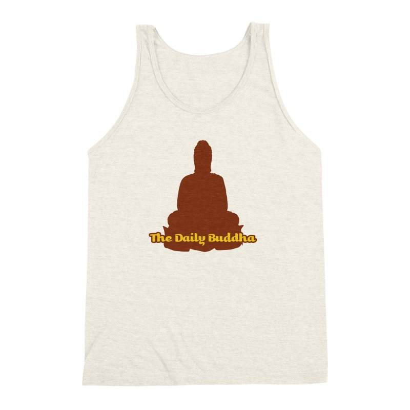 The Daily Buddha Men's Triblend Tank by The Daily Buddha Artist Shop