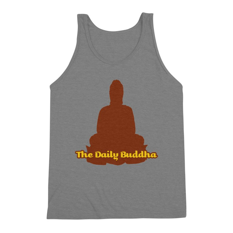 The Daily Buddha Men's Triblend Tank by The Daily Buddha Artist Shop