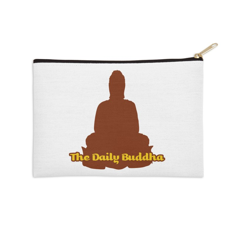 The Daily Buddha Accessories Zip Pouch by The Daily Buddha Artist Shop