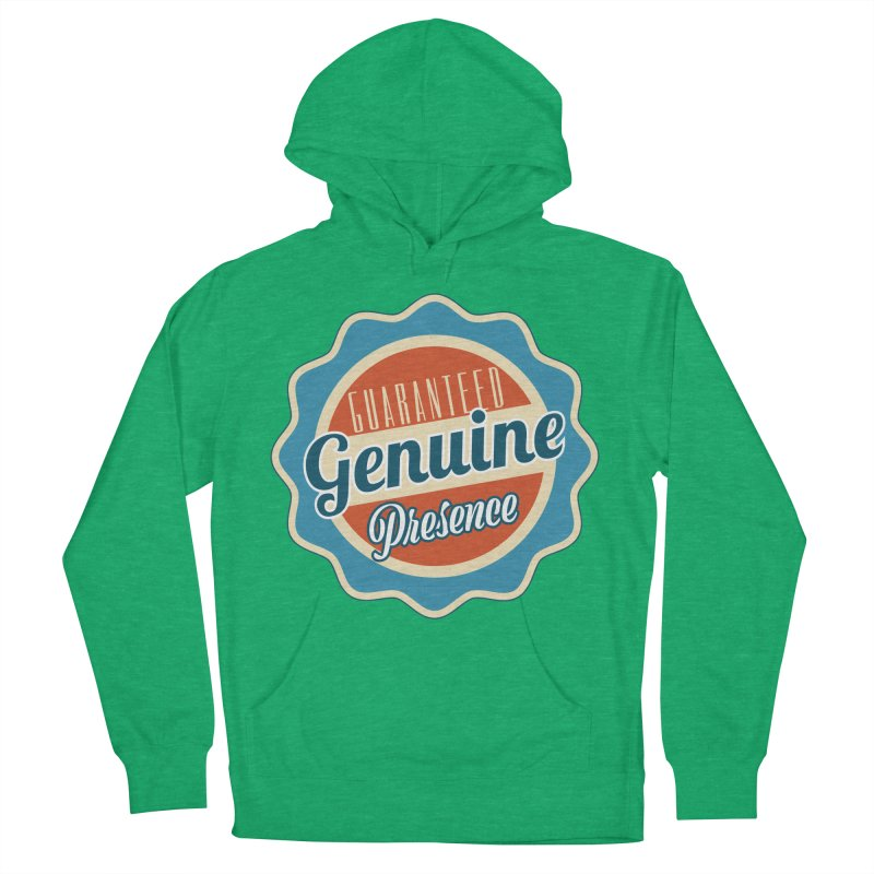 Retro-Style Genuine Presence Women's French Terry Pullover Hoody by The Daily Buddha Artist Shop
