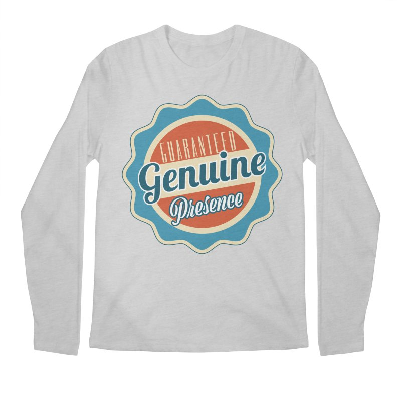 Retro-Style Genuine Presence Men's Regular Longsleeve T-Shirt by The Daily Buddha Artist Shop