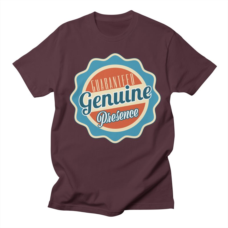Retro-Style Genuine Presence Women's Regular Unisex T-Shirt by The Daily Buddha Artist Shop