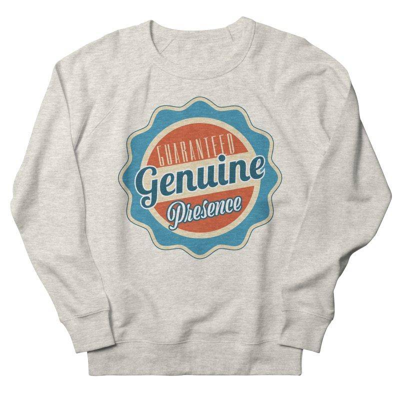 Retro-Style Genuine Presence Women's French Terry Sweatshirt by The Daily Buddha Artist Shop