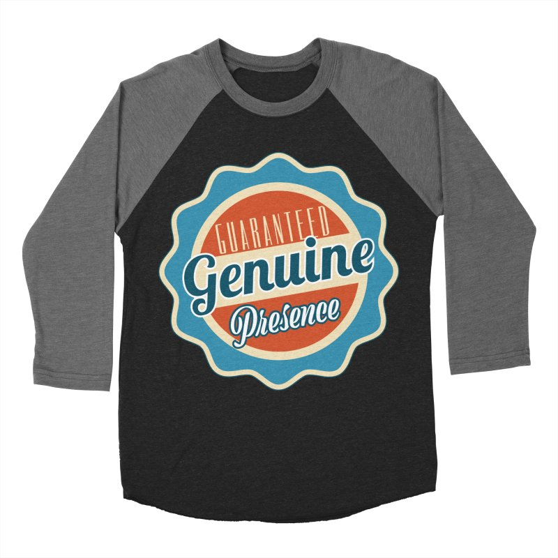 Retro-Style Genuine Presence Women's Baseball Triblend Longsleeve T-Shirt by The Daily Buddha Artist Shop