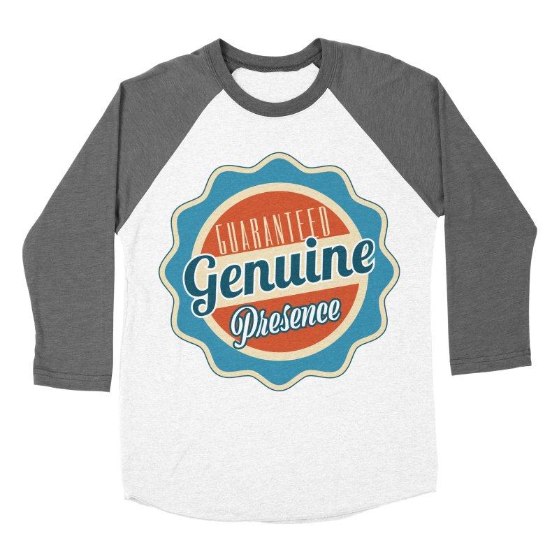 Retro-Style Genuine Presence Men's Baseball Triblend Longsleeve T-Shirt by The Daily Buddha Artist Shop