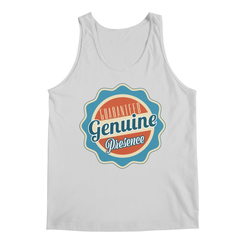 Retro-Style Genuine Presence Men's Regular Tank by The Daily Buddha Artist Shop