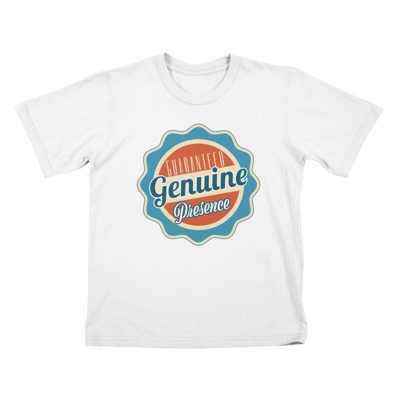 Retro-Style Genuine Presence Kids T-Shirt by The Daily Buddha Artist Shop