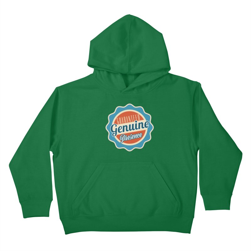 Retro-Style Genuine Presence Kids Pullover Hoody by The Daily Buddha Artist Shop