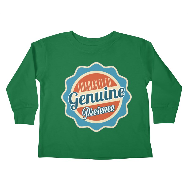 Retro-Style Genuine Presence Kids Toddler Longsleeve T-Shirt by The Daily Buddha Artist Shop