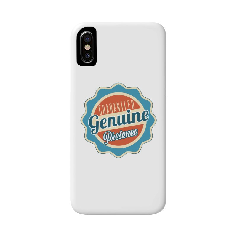 Retro-Style Genuine Presence Accessories Phone Case by The Daily Buddha Artist Shop