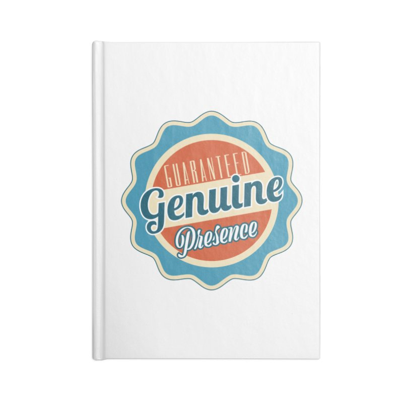 Retro-Style Genuine Presence Accessories Lined Journal Notebook by The Daily Buddha Artist Shop