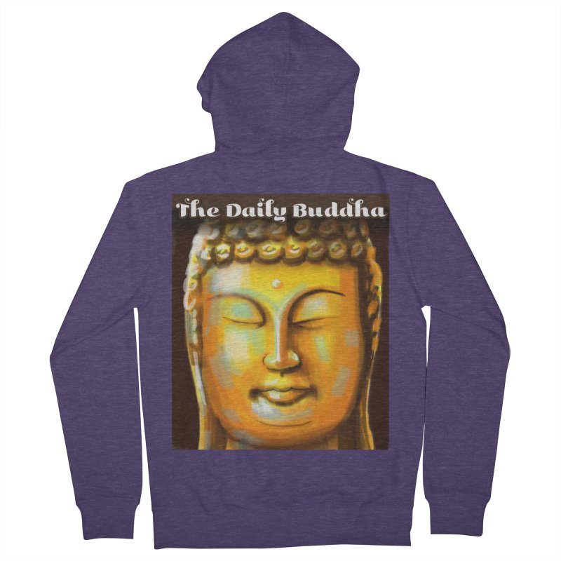 The Daily Buddha- Color Men's French Terry Zip-Up Hoody by The Daily Buddha Artist Shop
